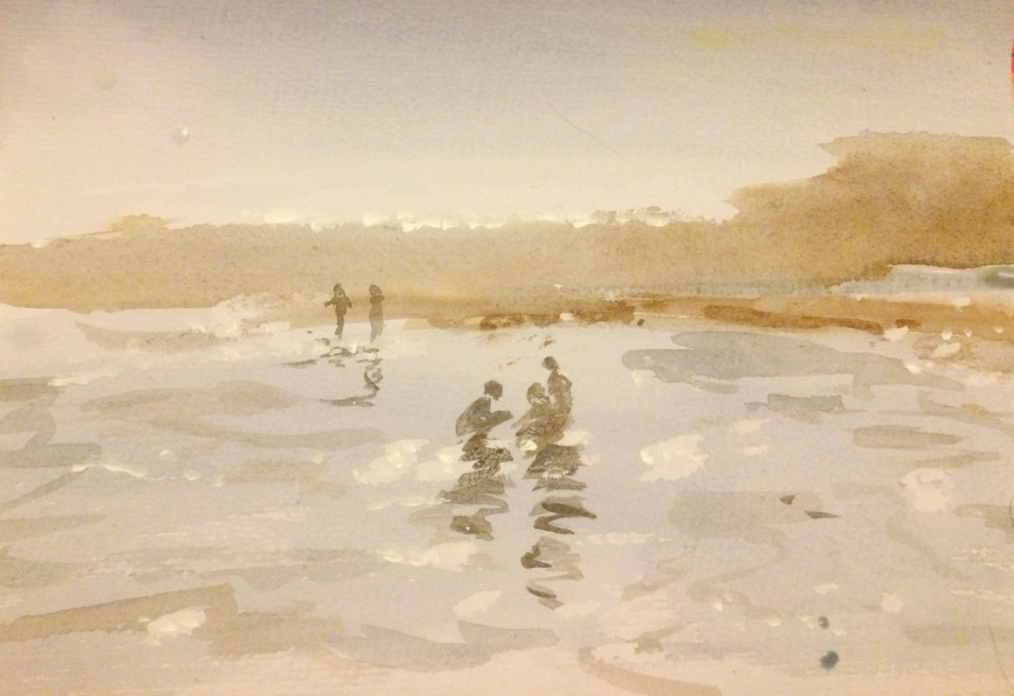 Watercolour/First attempt at water! ????