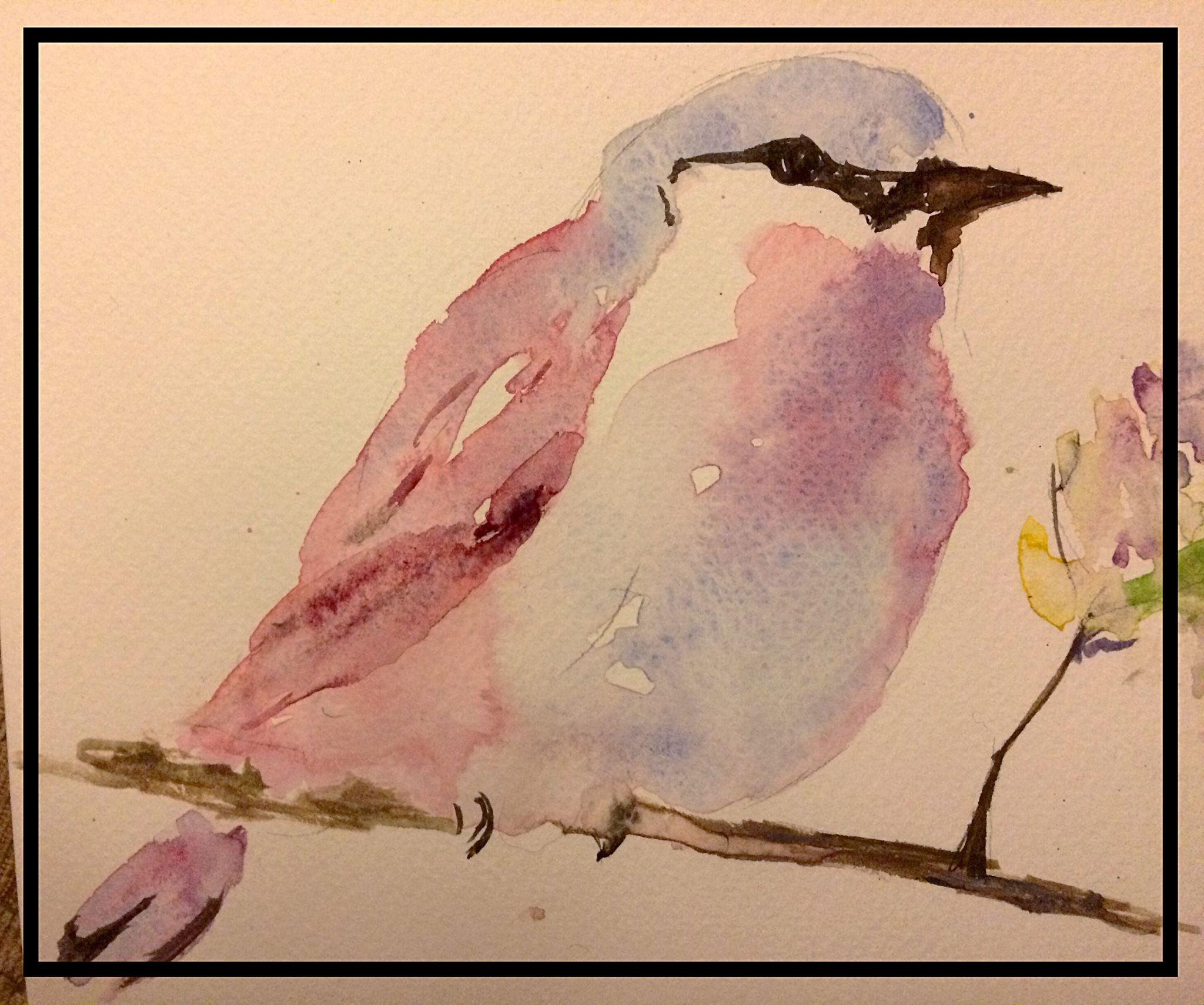 Watercolour – Little bird
