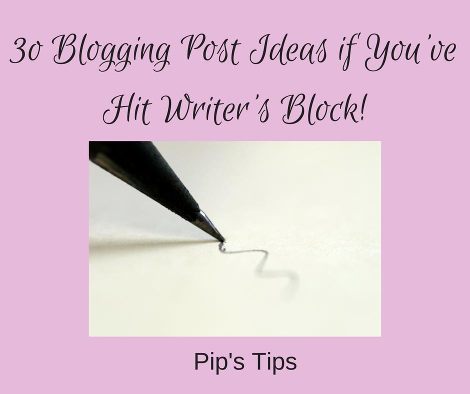 30 Blog Post Ideas
