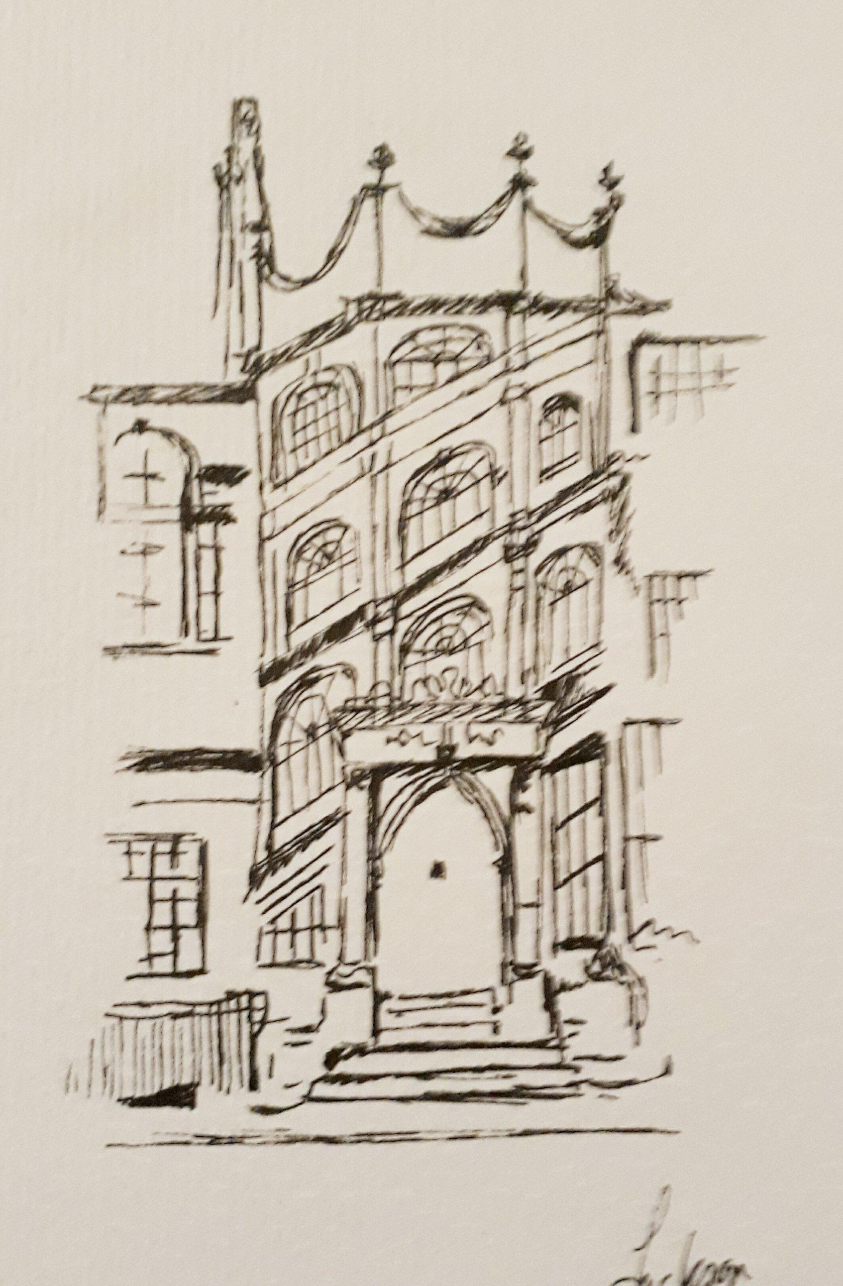 Oxford Building in Watercolour