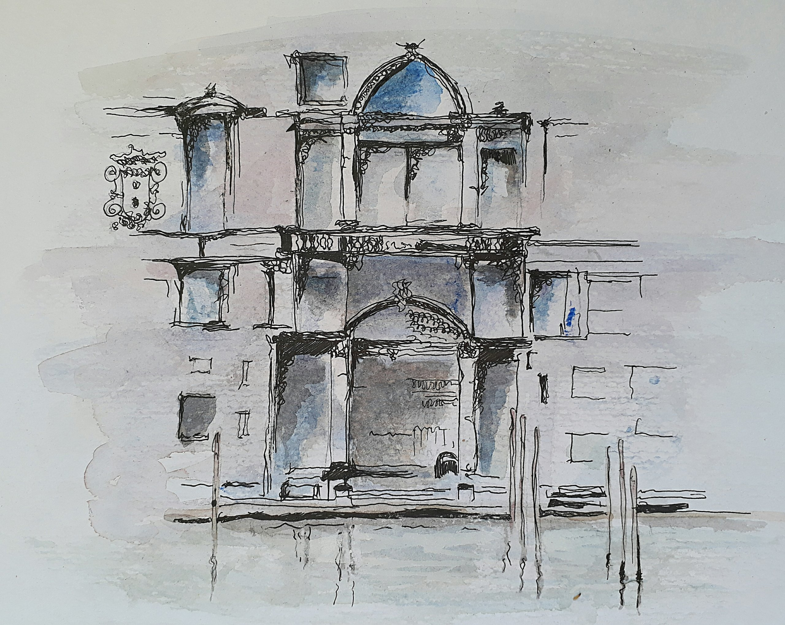 Diary Entry-21/05/2018-Venice in Watercolour/Pen&Ink