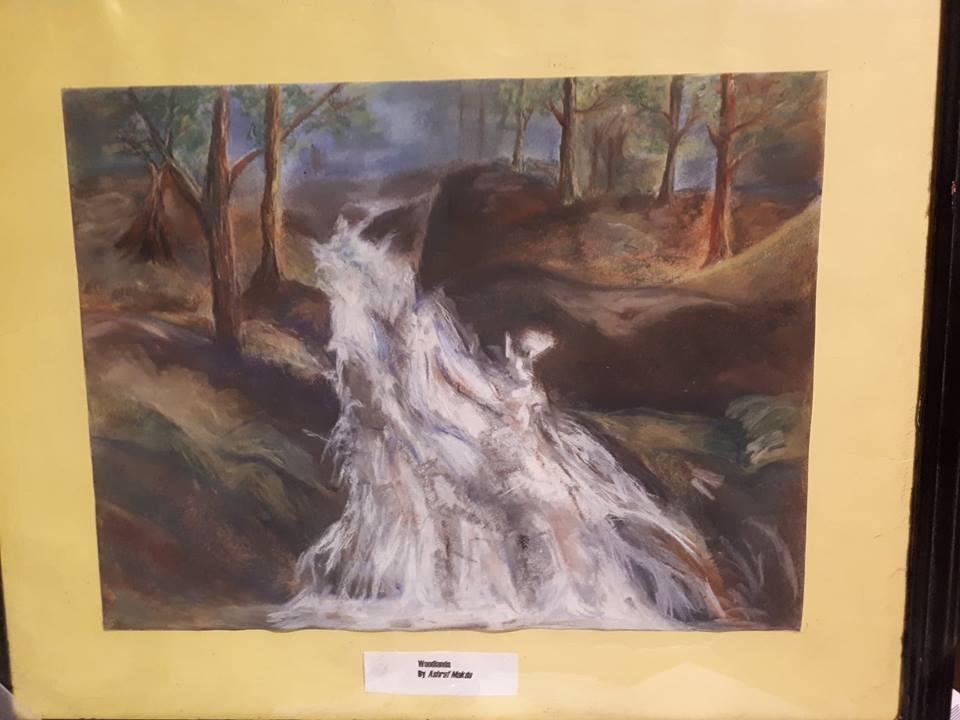 Waterfall in Mixed Media/Ash Makda