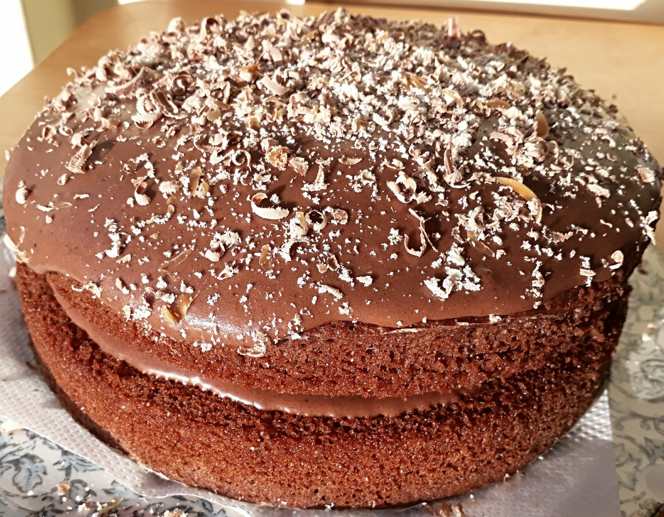 Chocolate Cake with Grated Twix
