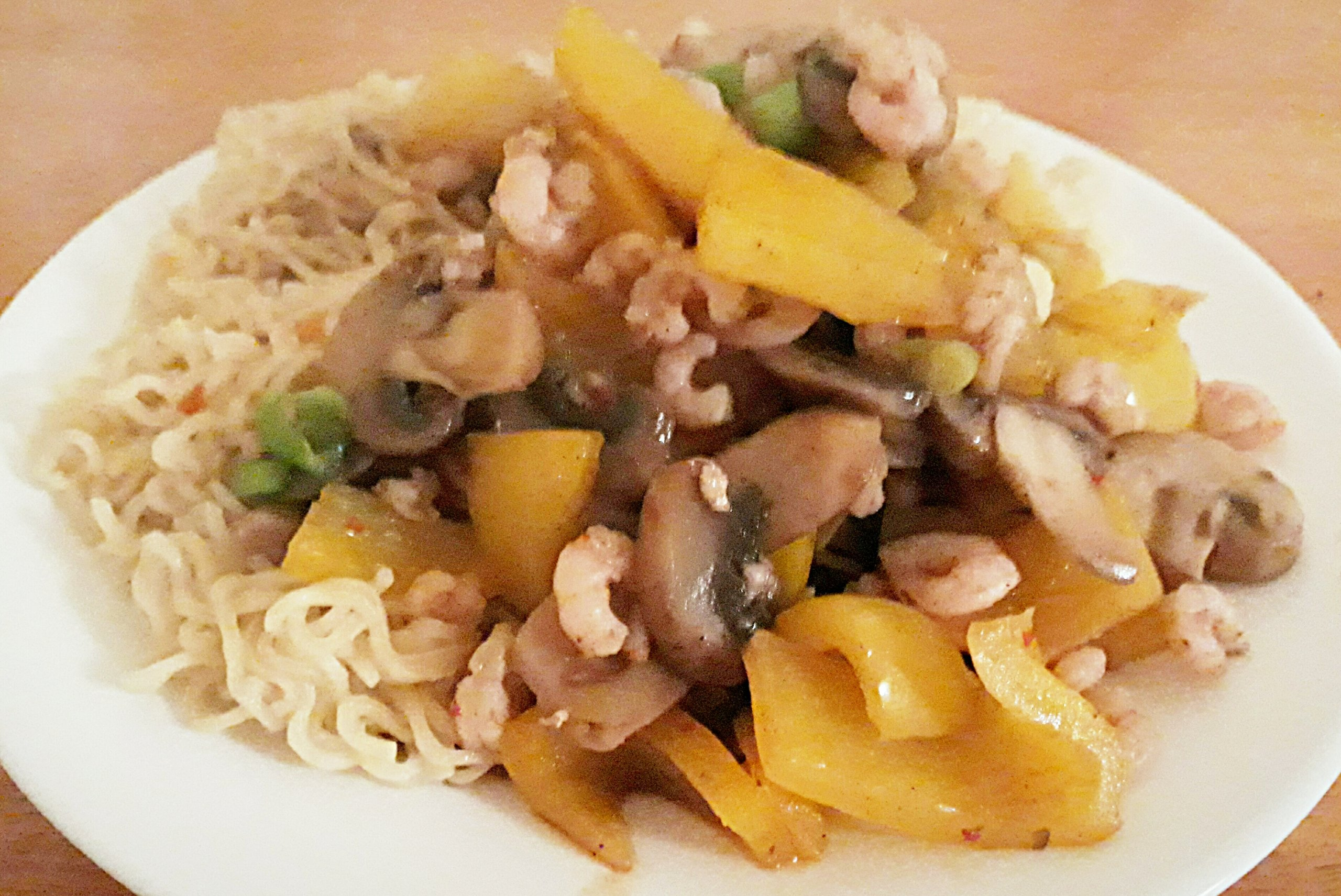 Spicy Prawns with Noodles/1&1/2 Syns with Slimming World