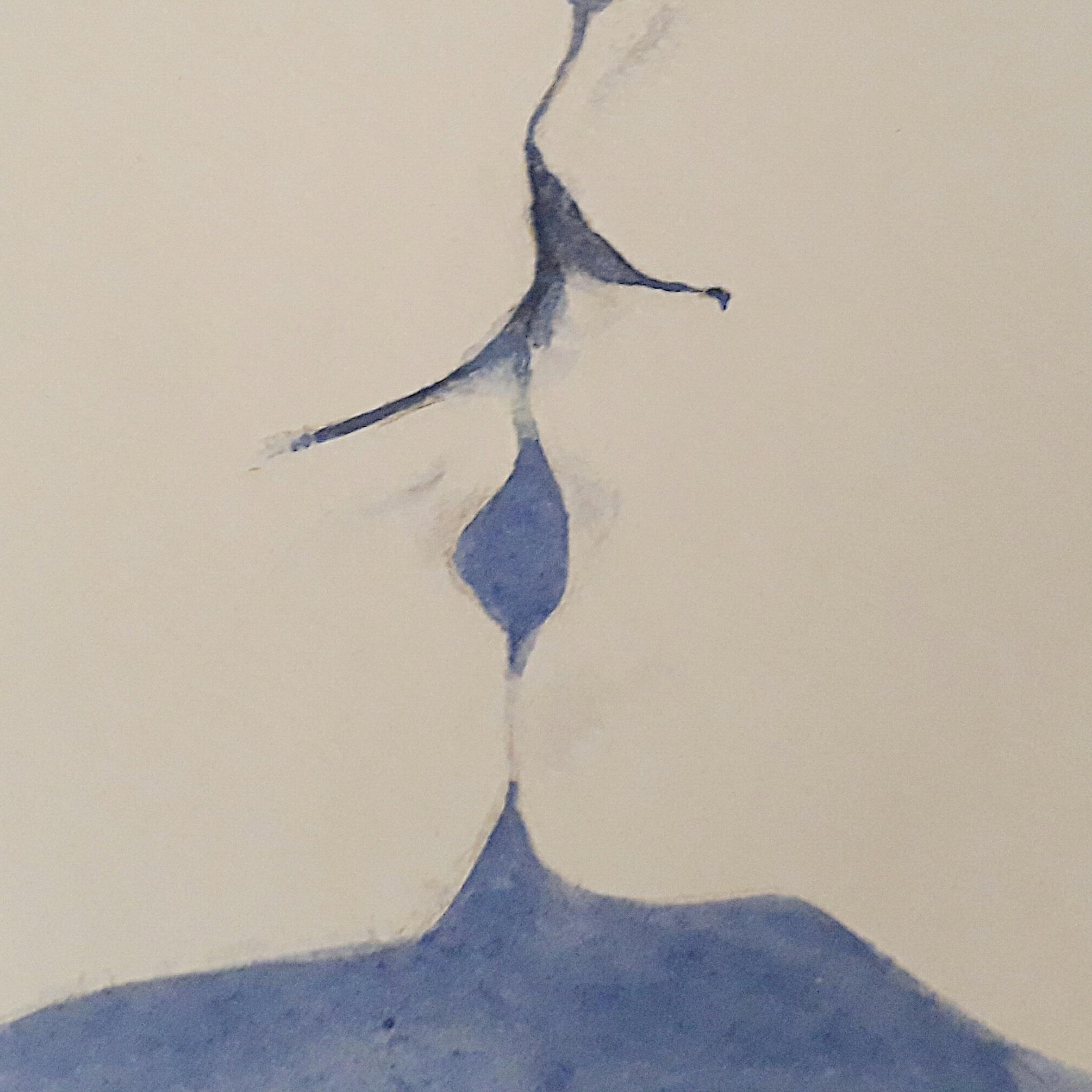 Elle Sourit Dans Le Baiser/Watercolour